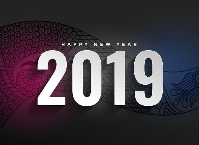 2019 ano novo decorativo fundo escuro