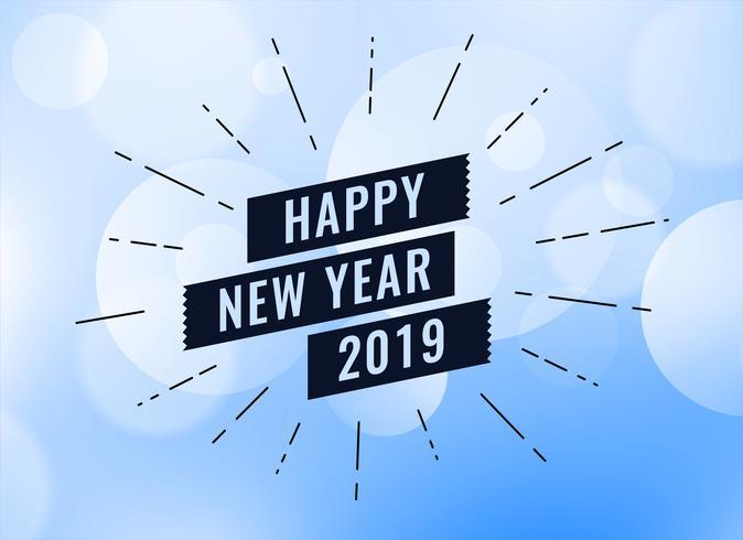 bonne année 2019 contexte créatif