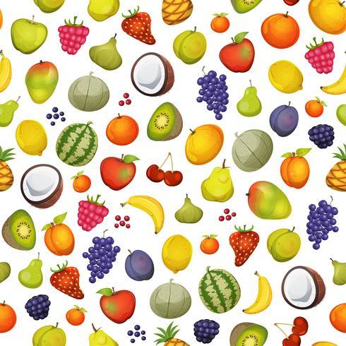 Fondo de iconos de fruta sin costura