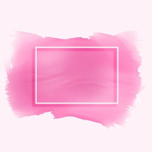 trama di macchia acquerello rosa con cornice vuota