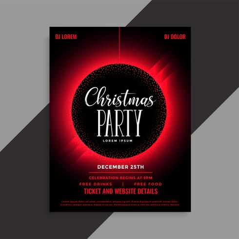 christmas party event invitation flyer template