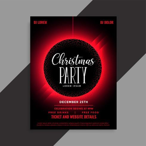 inbjudan för julparty händelse inbjudan flygblad
