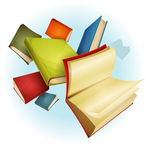 Fondo de colección de libros vector