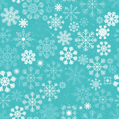 Nahtloser Weihnachtsschneeflocken-Hintergrund
