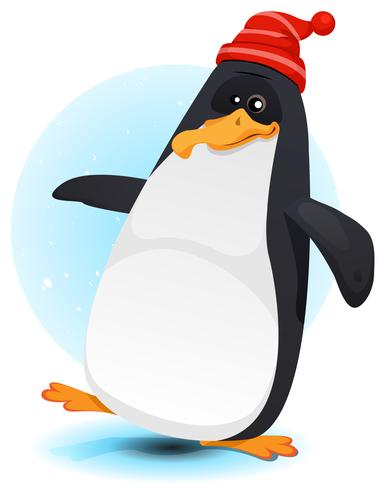 Glad Walking North Pole Penguin vektor