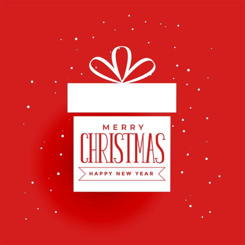 regalo de navidad sobre fondo rojo
