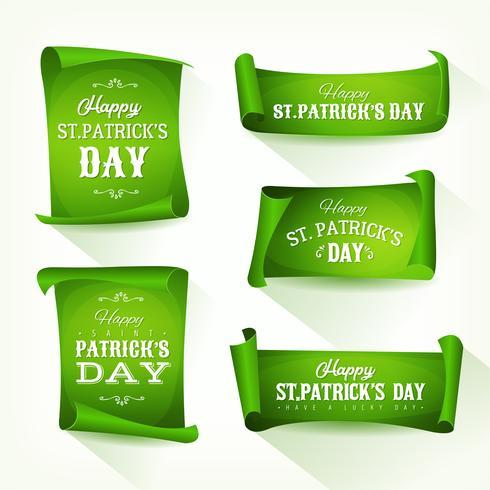 St. Patrick's Day Parchment Scroll Set