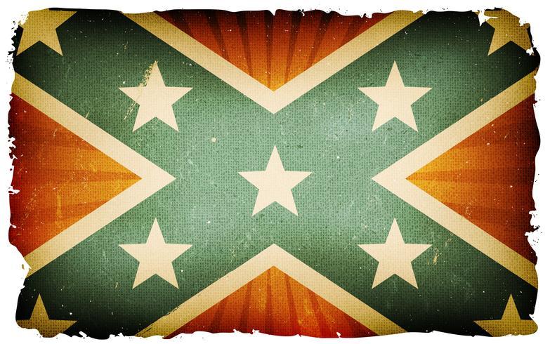 Fondo del cartel de la bandera confederada de los EEUU del vintage