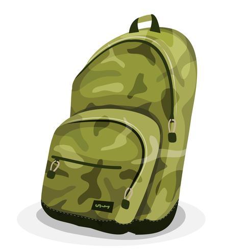 Schooltas met camouflagepatronen vector