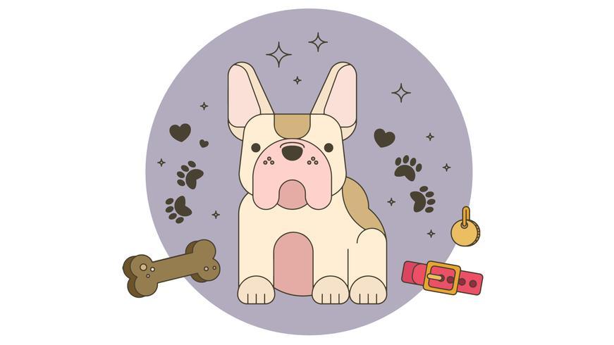 Vector de bulldog francés