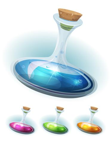 Flacon de potion magique avec élixir pour interface utilisateur