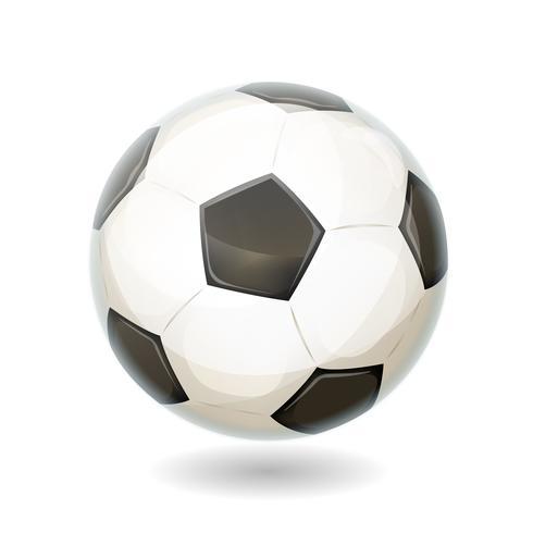 Fußballkugel getrennt