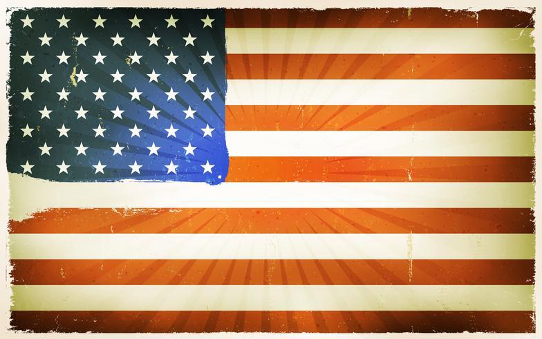 Fond d'affiche de drapeau américain Vintage