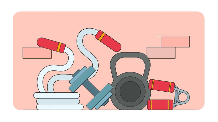 Gym Elements Vector