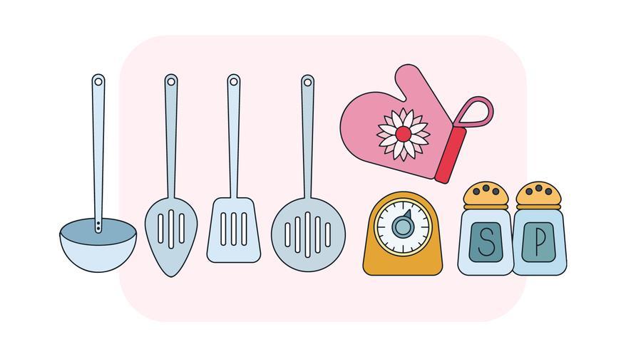 Vecteur d'outils de cuisine