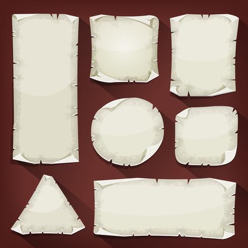 Vecchio set di carta strappata