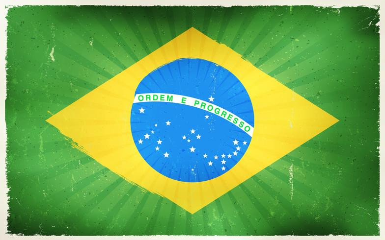 Vindima, bandeira brasil, cartaz, fundo