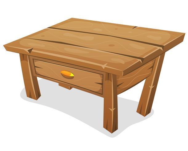 Petite table en bois vecteur