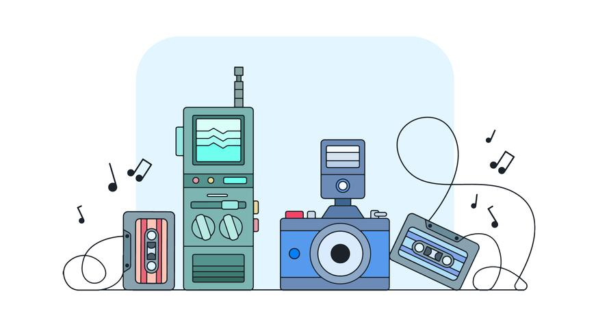 Retro Items Vector