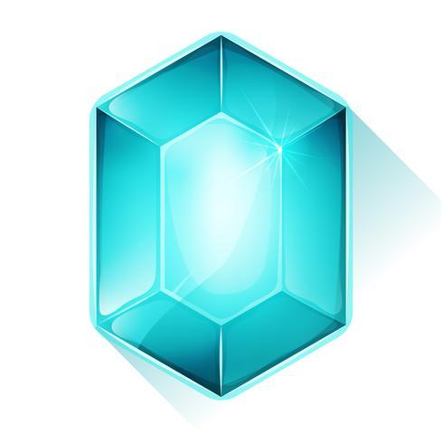 Icono de gema de cristal para la interfaz de usuario del juego