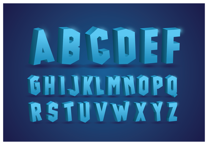 Alfabetos helados con fondo azul