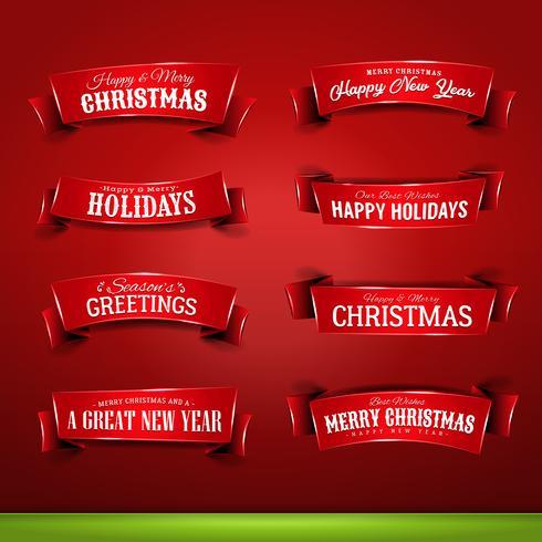 Samling av jul och nyårsbannare