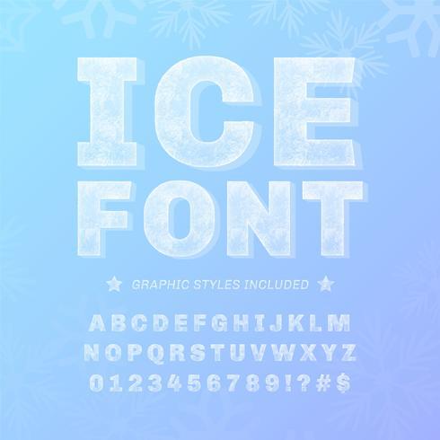 Alphabet glacé Vector Set