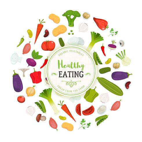 Healthy Eating And Vegetables Background