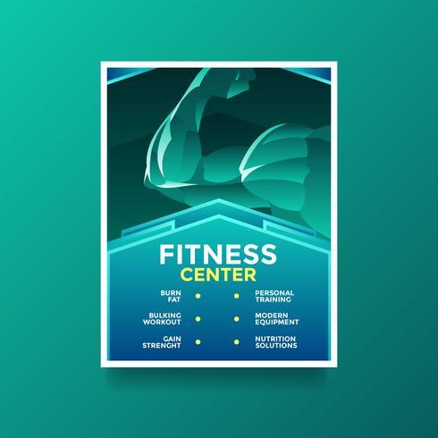 Vettore del Flyer di stile di vita di salute del centro di forma fisica