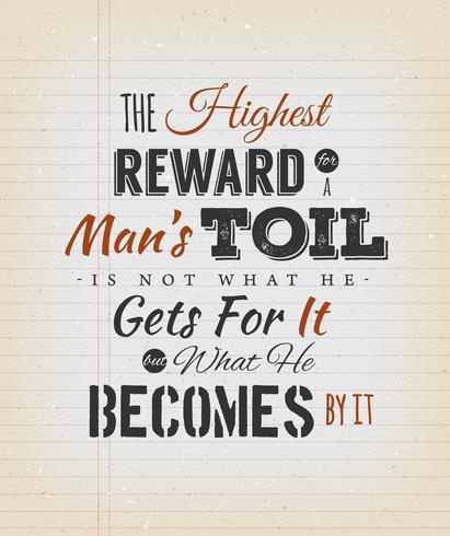 Il premio più alto per la citazione di un uomo