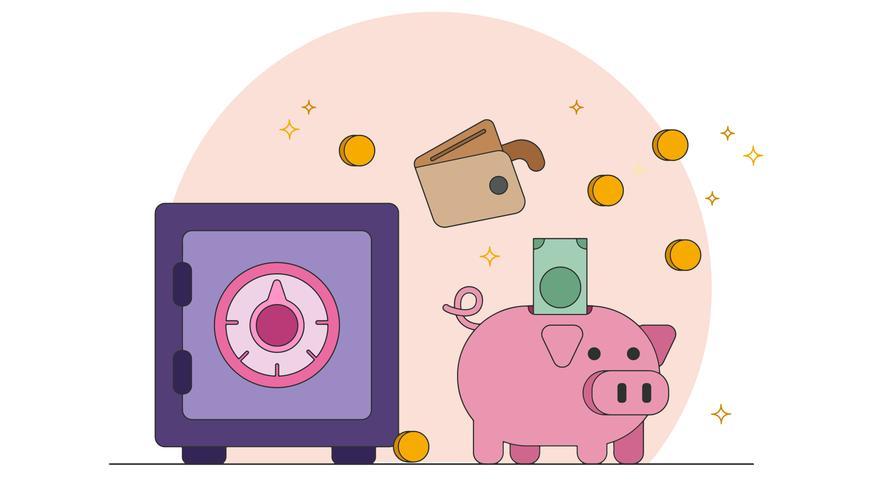 Vetor de dinheiro de poupança