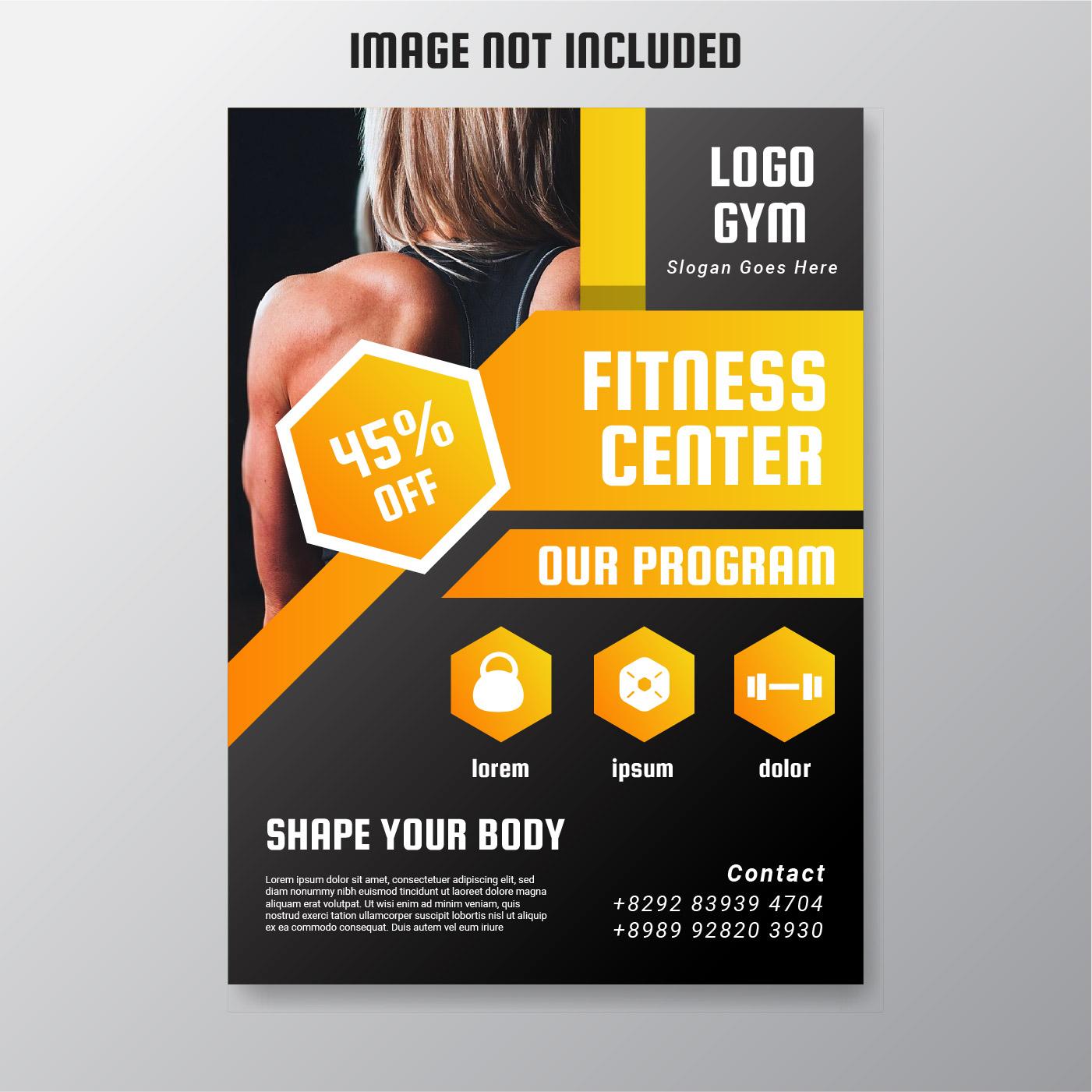 fitness flyer free vector art
