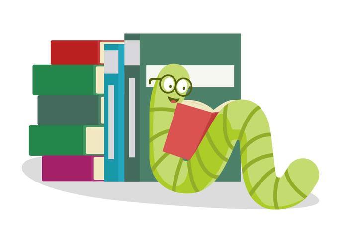 Ilustração do vetor de Bookworm