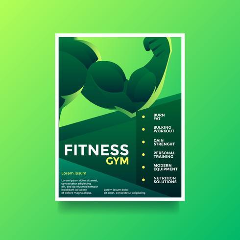 Vecteur de flyer fitness gym santé lifestyle