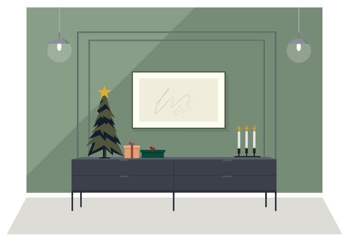 Vetorial, feriado, sala, ilustração