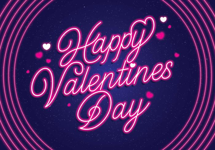 néon vecteur de la Saint-Valentin