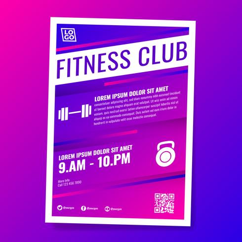 Fitness Gym Club Flyer Template