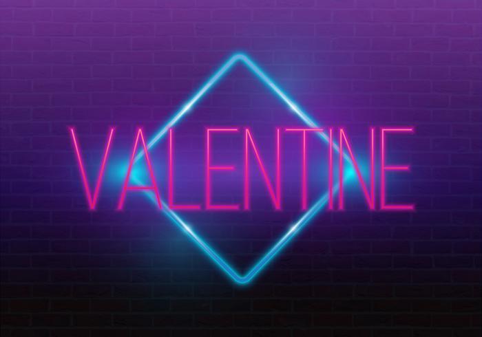 Feliz Dia dos namorados. Sinal de néon 3d. Sinal de néon realista. Sinal de amor. Amo o sinal de néon.