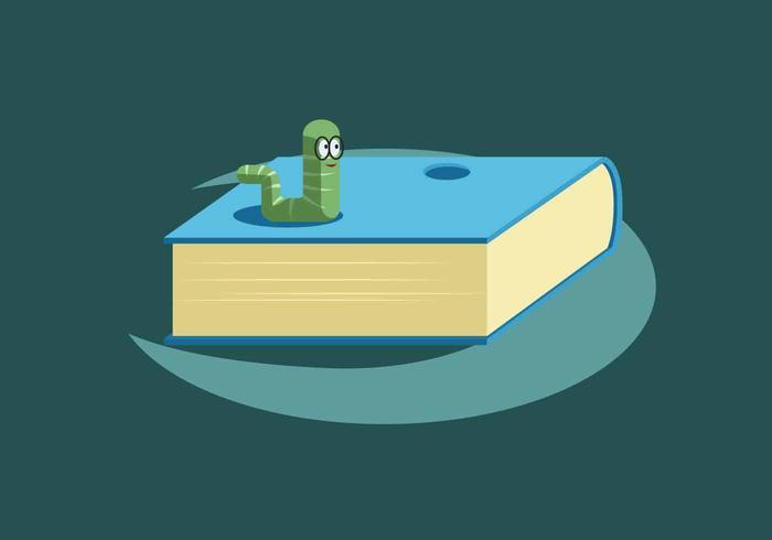 Ilustración de Vector de Bookworm