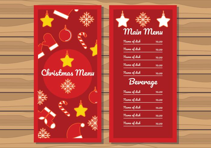 Christmas Dinner Menu Illustration