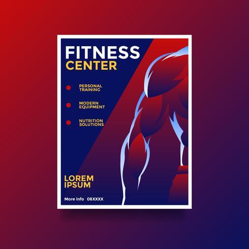 Fitness-Center-Flyer zum Thema Lebensstil