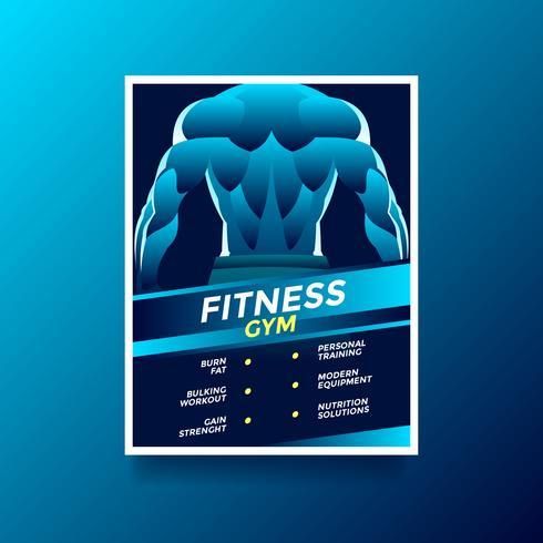 Flyer de estilo de vida de saúde ginásio Fitness