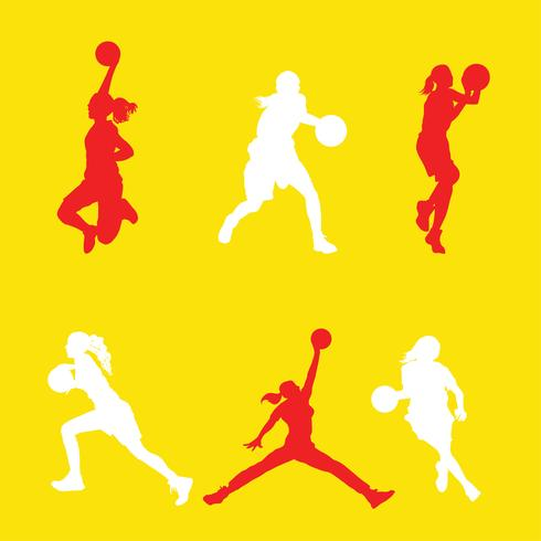 Female Basketball Player Vector Pack