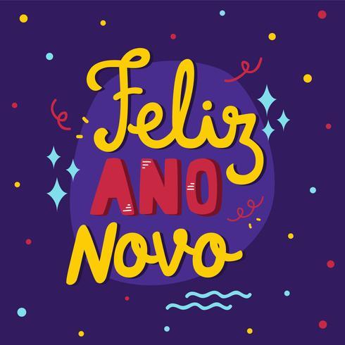 Feliz Ano Novo Brazilië Nieuwjaar Vector