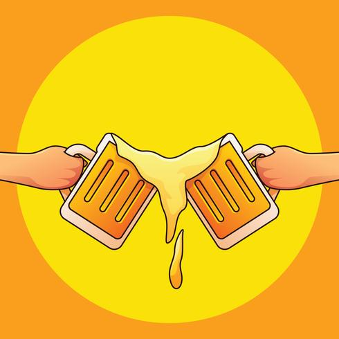 Rapazes brindando cerveja