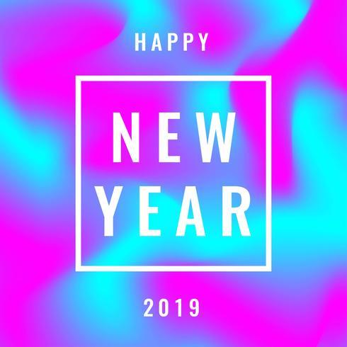 Frohes neues Jahr für Instagram Post mit abstraktem Hintergrund.