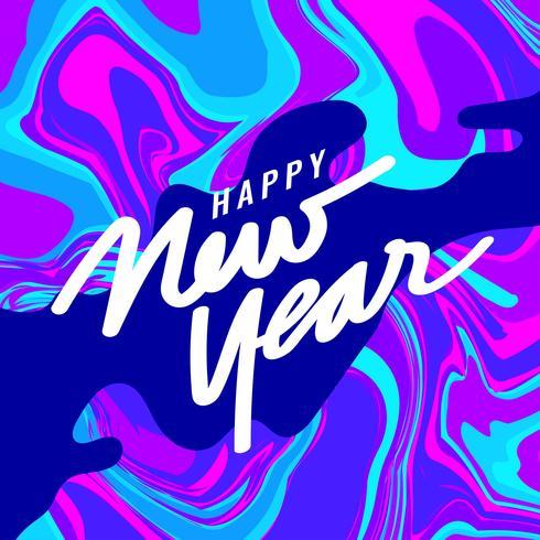 Guten Rutsch ins Neue Jahr Instagram Post mit Marmorhintergrund