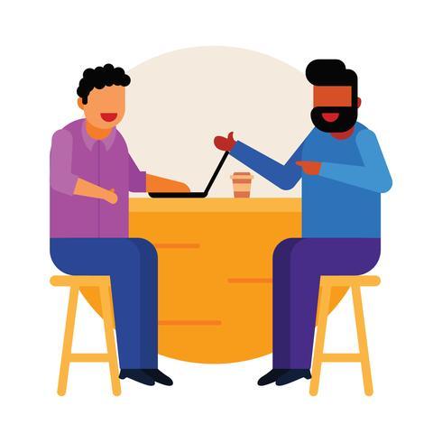 Treffen mit dem Kunden im Café