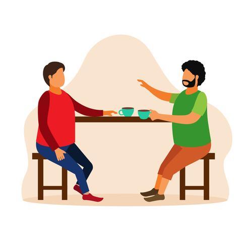 Café rencontre avec un vieil ami