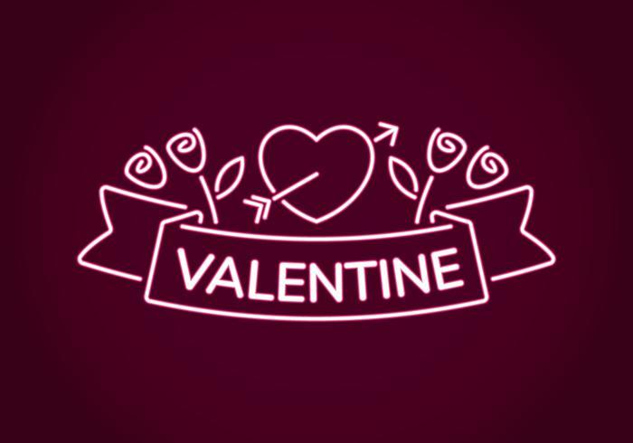 Neon Valentine-decoratie